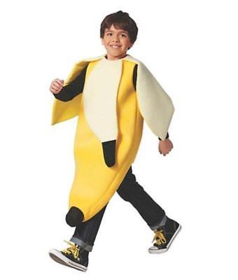 New Target Boy's Youth Child Peeled Banana Halloween Costume Yellow Small/Medium