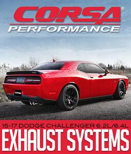 Corsa Performance Exhaust System 15-17 Dodge Challenger 6.2/6.4L
