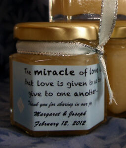 Honey/Tea Wedding Favors Locally Produced Unpasteurized Favours3