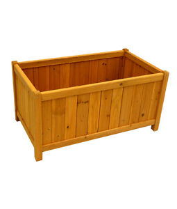 RECTANGULAR PLANTER BOX, CEDAR, GARDEN, YARD, PATIO, BACKYARD