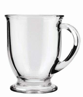 Anchor Hocking Café Glass Coffee Mugs, 16 oz