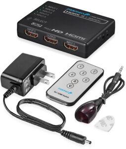 Fosmon HD1832 Intelligent 5x1 5-Port HDMI Switch/Switcher