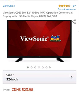 ViewSonic Cde3204  full HD commercial display