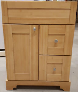 "SOLID WOOD NATURAL BAMBOO 24"" VANITY / CABINET - SALE!"