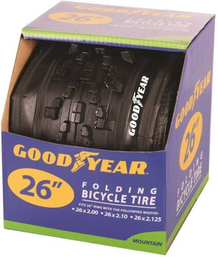 NEW KENT GOODYEAR 91120 FOLDING MOUNTAIN BIKE TIRE BLACK 26 X2.00 X2.10X2.125