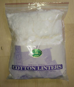 Medium-sized ziplock bag with cotton linters fro paper casting