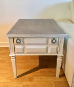 Koehler MCM side table white and grey
