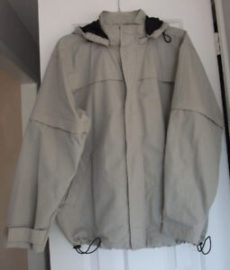 Giordano Beige Windbreaker Jacket Size Large