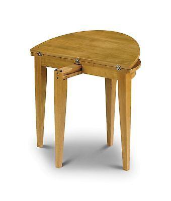 Julian Bowen Consort Pine Finish Space Saving Kitchen Dining Table Solid Wood