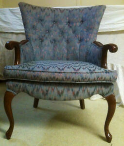 Wing Back Chairs matching pair for Sale
