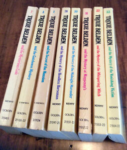 Eight Trixie Belden Soft Cover (paperback) Books