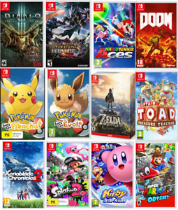 ⭐Jeux Nintendo Switch Zelda,Pokemon Octopath,Kirby, Mario, Doom⭐