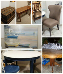 Various 'loved but good quality' furniture items