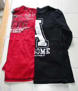 2x Boys long sleeve graphic shirts size 12/14