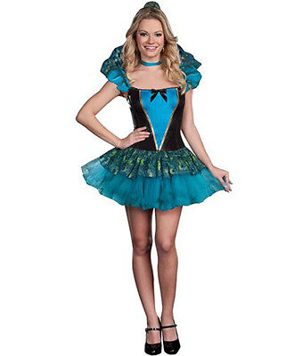 Miss Peacock Costume Adult Woman Halloween Exotic Bird