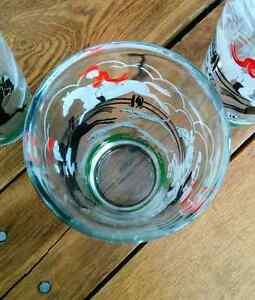 "Hazel Atlas ""Tally Ho"" Highball Glasses Bar-tique Midcentury Kitchener / Waterloo Kitchener Area image 4"