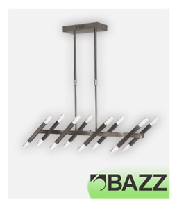Bazz Lume Brushed Chrome Chandelier