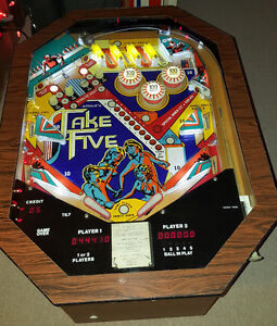 Take 5 Cocktail Pinball Machine For Sale