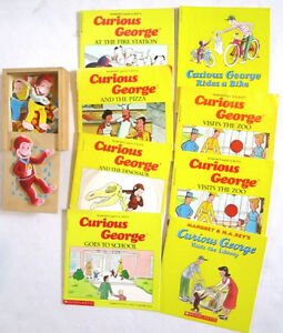 CURIOUS GEORGE - Books, Puzzle Box and Hat Activity Ages 3 & up Windsor Region Ontario image 1