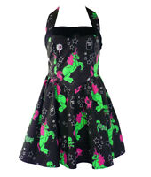 Hell Bunny Heart Zombie Party Dress Pin Up Goth Rockabilly M/L
