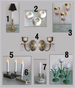 CANDLESTICKS … CANDLE HOLDERS … WALL SCONCES … CANDLES