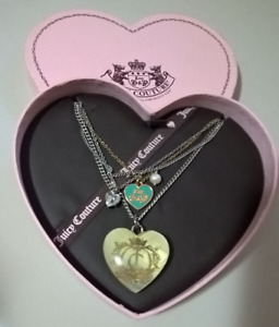 Vintage Juicy Couture Crown Heart 4 Strand Necklace