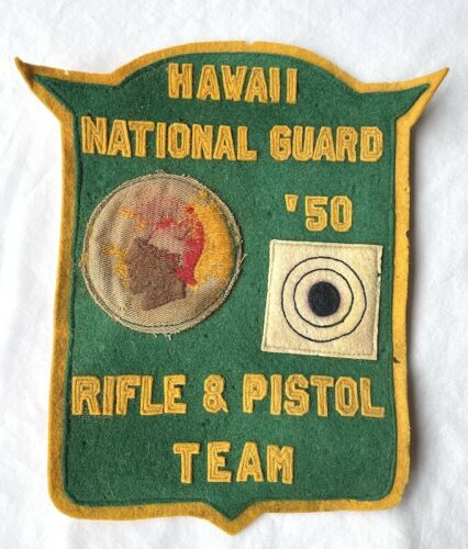 RARE 1950 HAWAII NATIONAL GUARD Rife & Pistol Team MARKSMANSHIP PATCH