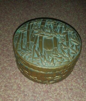 vintage old chinese bronze made jewllery box