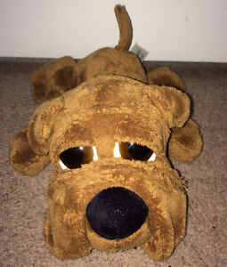 """Plush Dog """"Puddie"""" Russ Berrie ~ 10 Inches ~ Big Brown Eyes"""