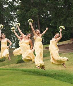 Reduceds Yellow Alfred Angelo bridesmaid dress for sale