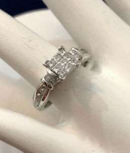 14k white gold diamond engagement ring ^Compare at $2,600