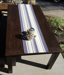Rustic Country Chic Harvest Table with matching bench Belleville Belleville Area image 2
