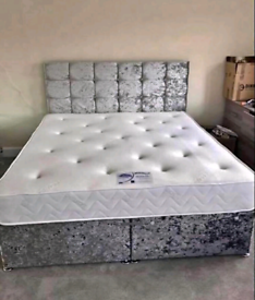 STURDY DIVAN bed set with luxury mattress and FREE DELIVERY