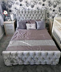 Brand New Chesterfield bed (various colours and mattress available)