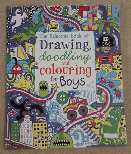 Usborne Book of Drawing, Doodling & Colouring for Boys BRAND NEW