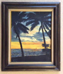 Oil painting of Hawaii sunset - Best offer