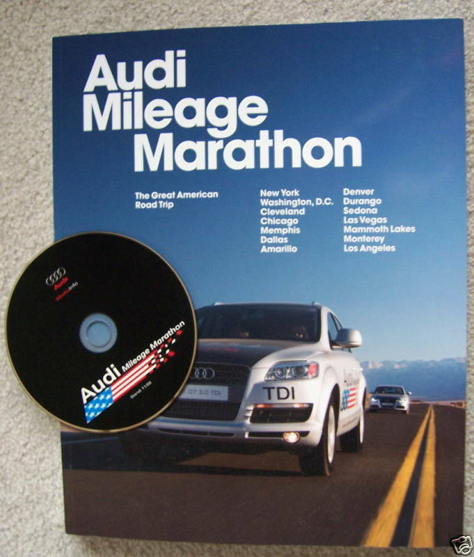 AUDI MILEAGE MARATHON TDI TECHNOLOGY SHOWROOM BOOK BROCHURE 2009 USA EDITION
