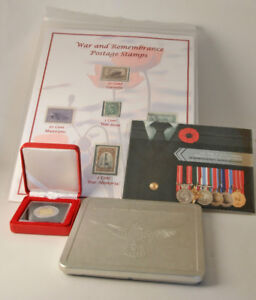 Great set of War & Remembrance Stamps and Coins
