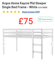 Kaycie mid sleeper bed frame only £75. RBW Clearance Outlet Leicester