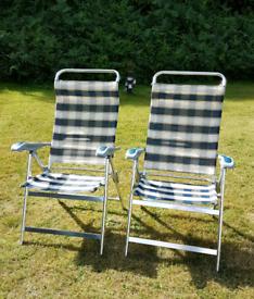 Reclining garden/camping chairs