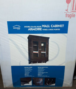 Bath Solutions Double Glass Door Armoire