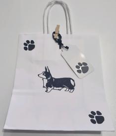 Gift bag corgi.