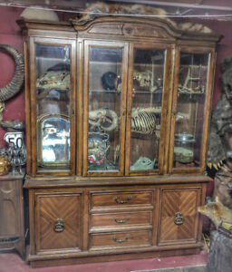 Wood display hutch cabinet $200 OBO