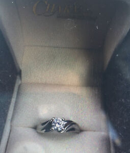 .50 carat white gold solitaire