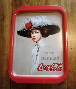 Vintage Coca Cola Tray 1971 Advertising Metal Tray Hamilton King