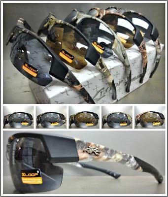 WHOLESALE LOT Men's PREMIUM HUNTING FISHING SPORT WRAP SUN GLASSES 6 or 12 (Polycarbonate Glasses Wholesale)