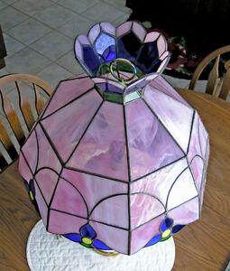 Tiffany Style Slag Glass Lamp and Shade