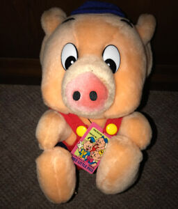 RARE Disney Japan Three Little Pigs Plush Doll