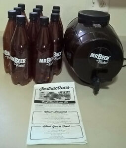 Mr. Beer 2 Gallon Homebrewing Craft Beer Fermenter, Bottles