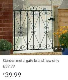 Garden metal gate £39.99 + free delivery